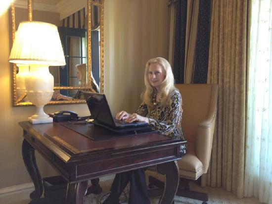 "Fairmont Grand Del Mar : Working on my novel ""Pacific Beach"""
