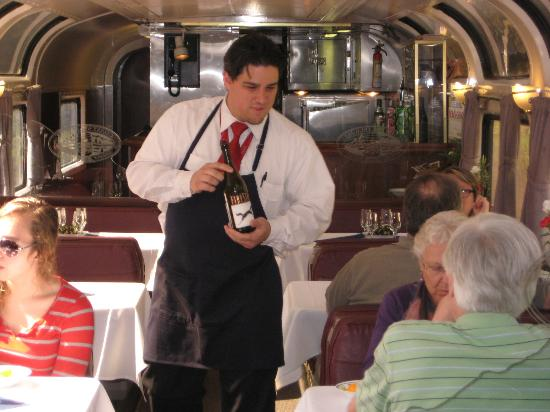 Coast Starlight: wine tasting on the sleeper section of the train