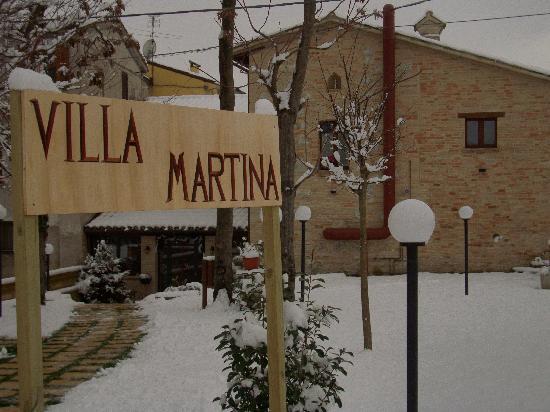Villa Martina sotto la neve