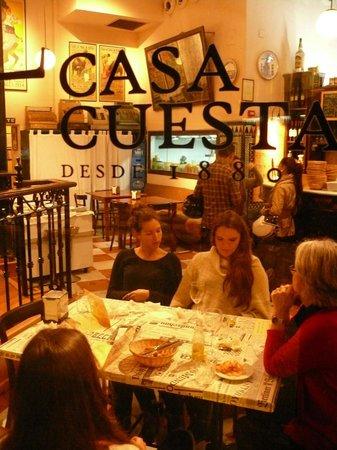 CASA CUESTA : A perk for a tapas bar: plenty of tables