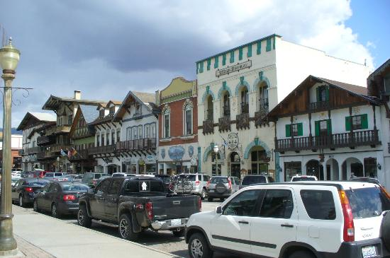 Leavenworth Ski Hill: Main  street of the town