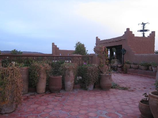 Rose Noire: rooftop terrace