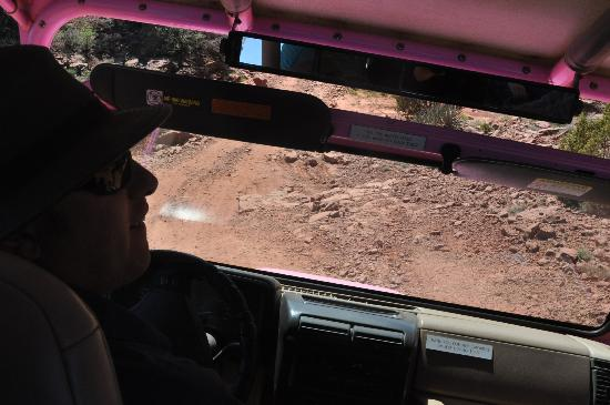 Pink Jeep Tours Sedona: Hands on the WHEEL...PLEASE!