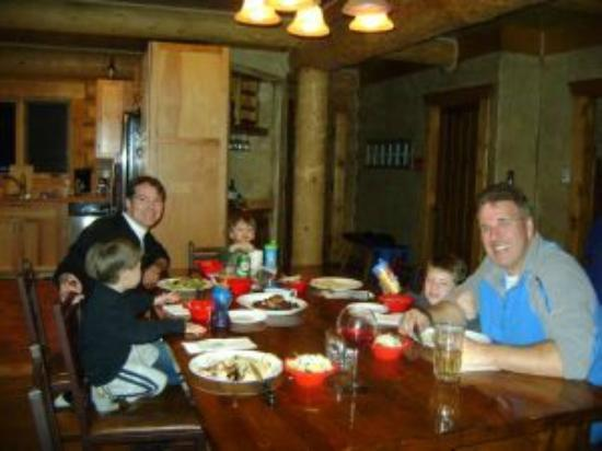 Eating at the Bear Cabin in Breckenridge