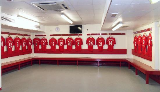 Anfield Stadium: Players changing room