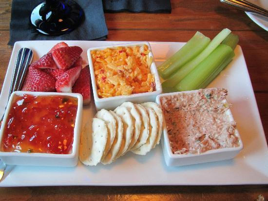 The Blue Point: Appetizer-Pimento Cheese, Ham Salad, Cream Cheese/Red Pepper Jam