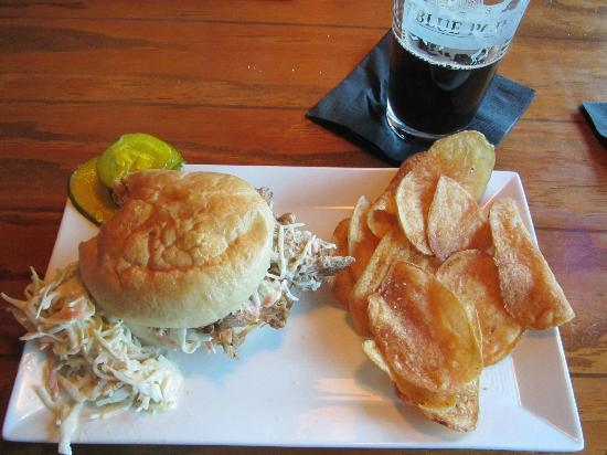The Blue Point: Pulled Pork Sandwich-Blue Point in Duck, NC