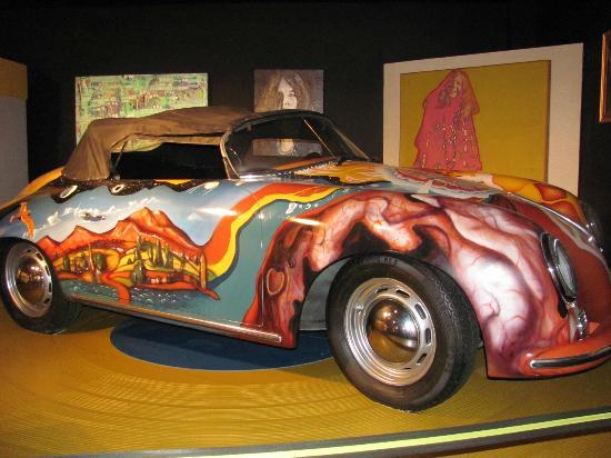 Museum of the Gulf Coast : Replica of Janis' Porche - original in Cleveland at Rock and Roll Hall of Fame