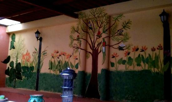 Lost City Adventures: One of the levels in the patio. Love the mural. Nice!