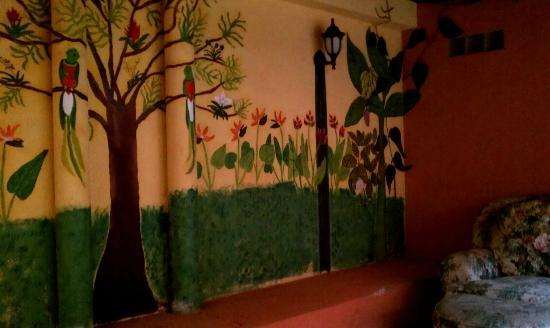 Lost City Adventures: One of the levels in the patio. Love the mural. Comfy!