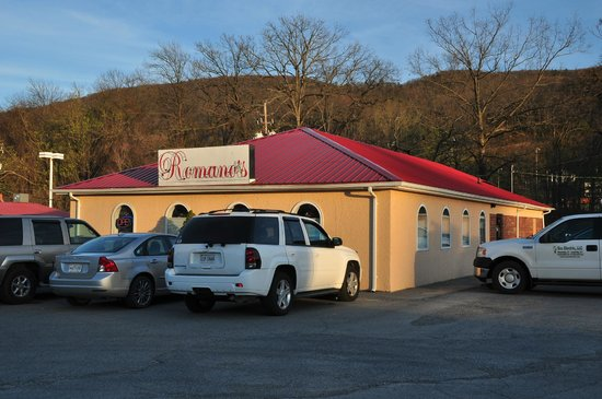 Romano's Restaurant: Romano's is easy to find, on the south side of Park Avenue in Norton, VA.