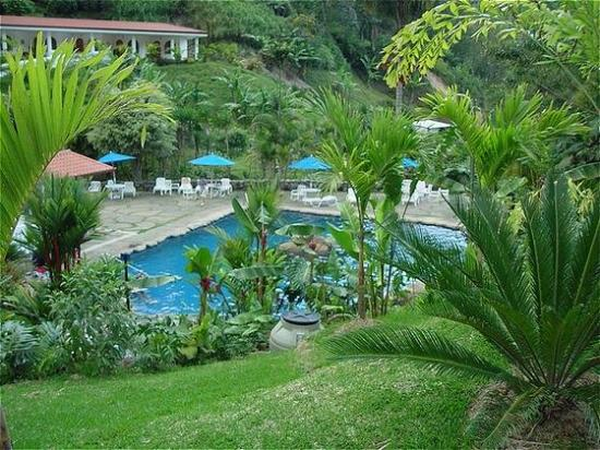 Cartago, Costa Rica: overview of thermal pool
