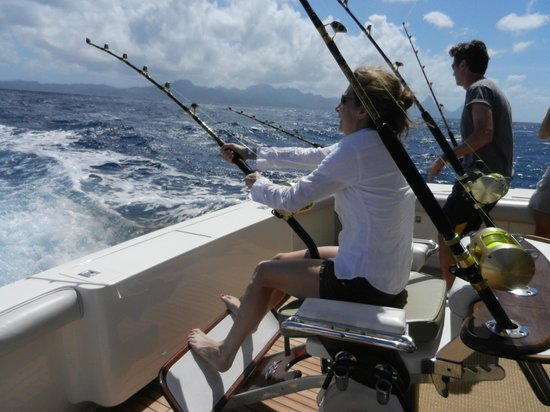 St Lucia Fishing and Boat Tour Charters: Fish on!