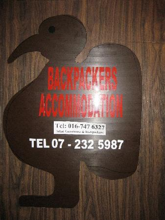 Sekai Guesthouse and Backpackers: SIgn board