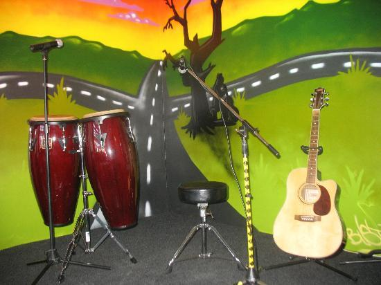 Crossroads Winebar & Cafe: CROSSROADS Stage backdrop