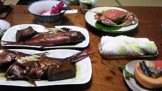 Yasashigaura Onsenkan: 夕食