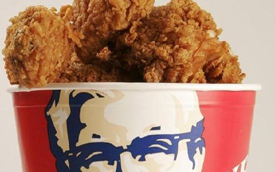 KFC: Chicken with god looking on