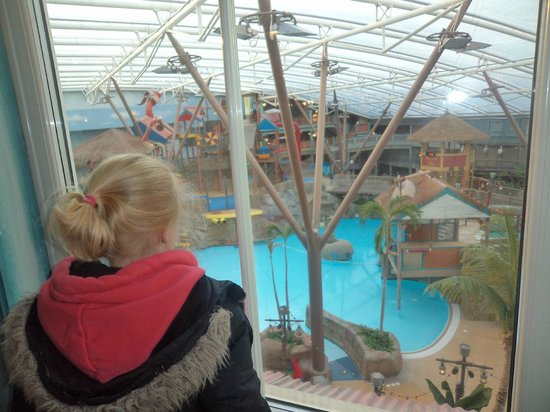 Alton Towers Waterpark: overlooking the waterpark