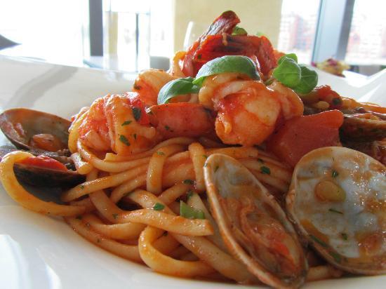 The Fish Place: seafood spaghetti