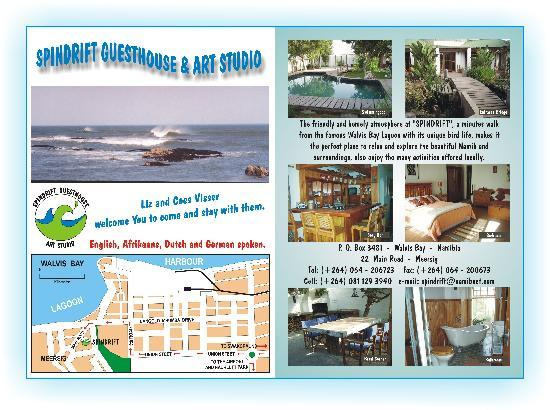 Spindrift Guesthouse: Our flyer