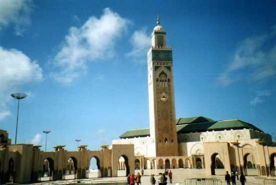 Kazablanka, Fas: Moschea Hassan II: Panoramica moschea