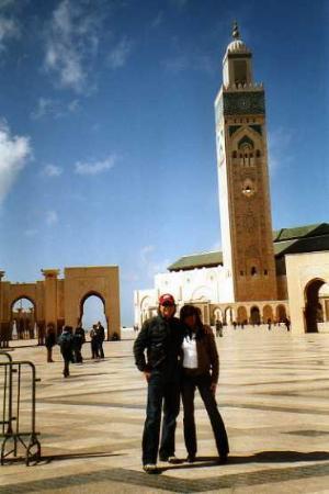 Kazablanka, Fas: Moschea Hassan II: Cortille e minareto