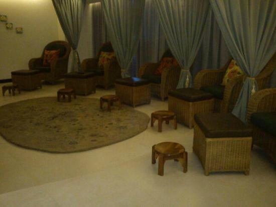 Odyssey Spa: Relaxing Foot Massage Room Complete With Plasma TV
