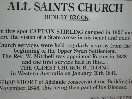 All Saints Anglican Church: Information about the Church and its history