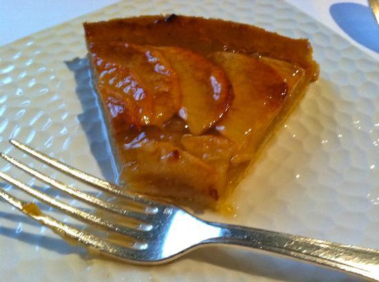 Apple tart with Calvados - Picture of Restaurant Chez Marion, Merville ...