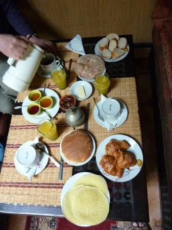 Riad du Petit Prince: our breakfast
