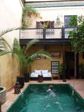 Riad du Petit Prince: first floor from the courtyard