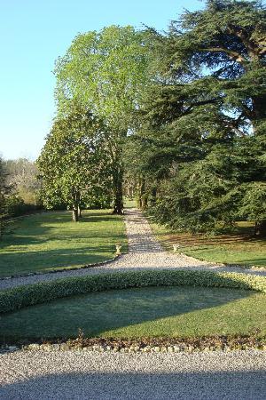 Chambres d'hotes Laguneaussan : Wunderschöner Park mit alten Bäumen