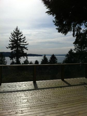 Evergreen Hall Bed & Breakfast : view from the front sliding door