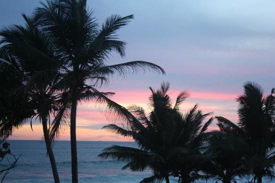Sri Gemunu Beach Resort: Sunset from top floor