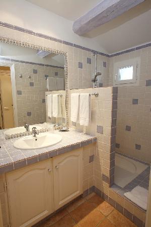 Hôtel Lou Cagnard : salle de bain douche