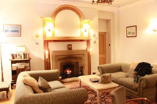 The Lovat Brasserie : The fireplace in the room