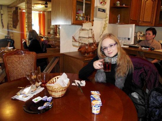 Nevsky Mayak Hotel : Холл гостиницы, где завтракают и отдыхают.
