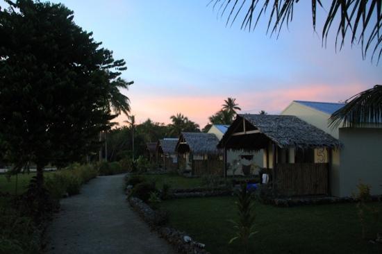 Aquana Beach Resort : the water front bungalows at Aquana