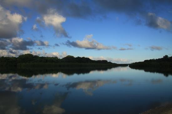 Aquana Beach Resort : view of the lagoon from Aquana resort