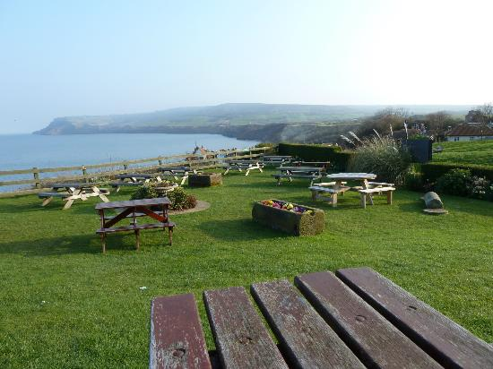 View from the Main entrance, Victoria Hotel, Robin Hoods Bay