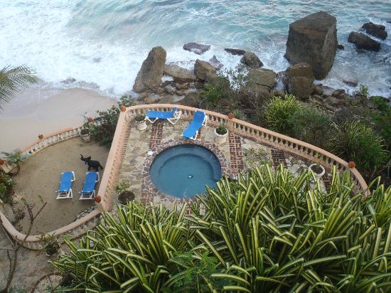 The Palace at Playa Grande : The plunge pool just above the private beach.