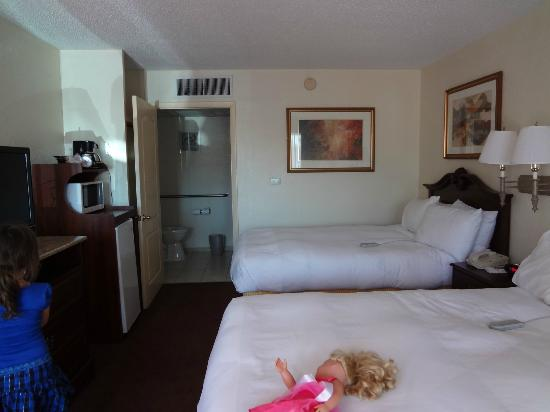 Clarion Inn & Suites: our room,a lil bland