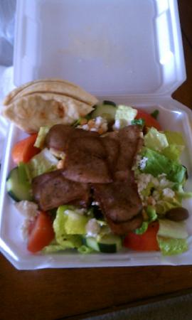The Merche Corp dba Olympic Flame Restaurant: Greek Salad with Gyro Meat