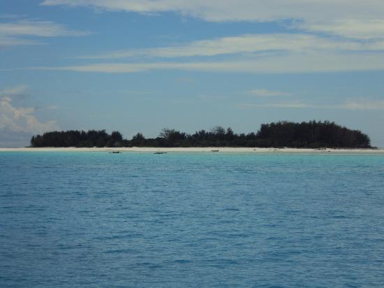 Azanzi Beach Hotel: island view where diving takes place