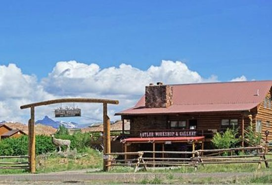 Antler Workshop & Gallery: the workshop is along 26/287 on the way to yellowstone and jackson hole