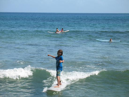Puntas Surf School: First Time Surfing--That's a Smile!