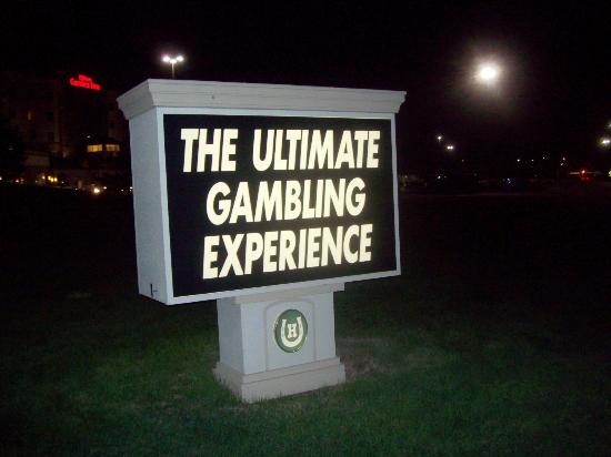 Hilton Garden Inn Omaha East/Council Bluffs: Sign outside the hotel.  It is a good casino.