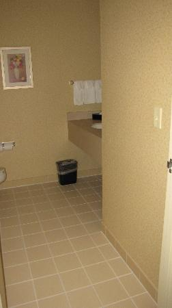 Fairfield Inn & Suites Burlington: rough floor tile on the foot