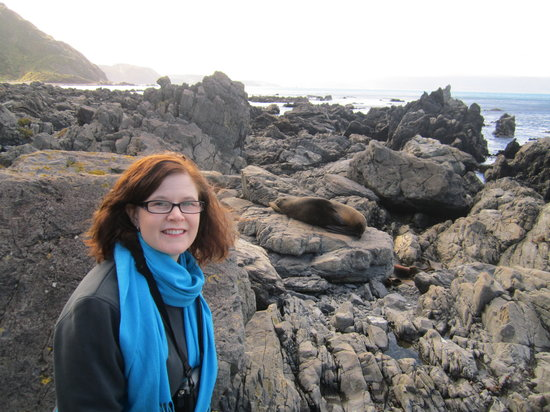 Kiwi Coastal Tours : Sheryl and seal
