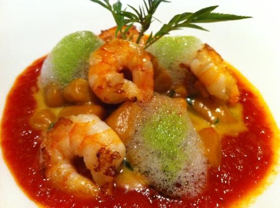 MAP Café: Maravilho camarão com gnochi de abóbora selvagem. Estava divino. Prato digno de pontuação maáxim